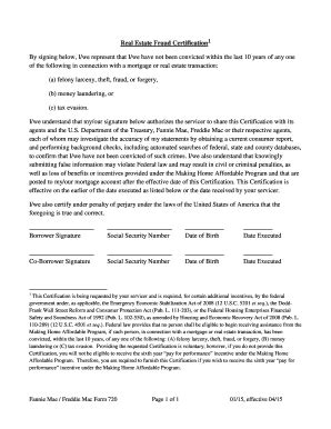 freddie mac form 65 fillable pdf fillable online form 720 real estate fraud certification