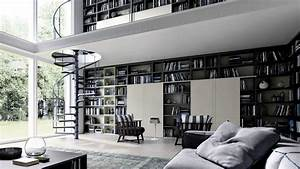 Home Library Design Hd Wallpaper