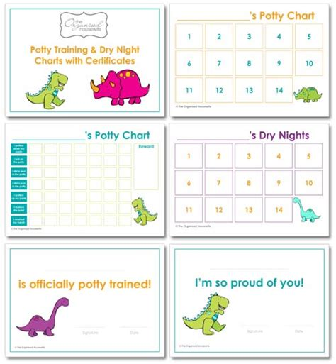 potty training charts  organised housewife shop