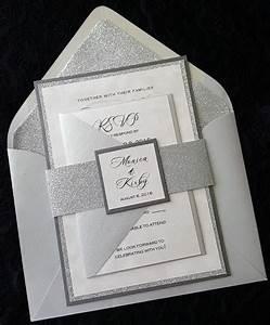 glitter wedding invitation silver glitter wedding With samples of silver wedding invitations