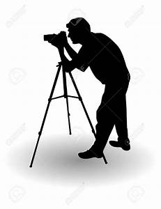 Silhouette clipart photographer Pencil and in color