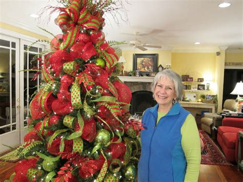 decorating with mesh ribbon for christmas home for the holidays with nancy ladybug wreaths by