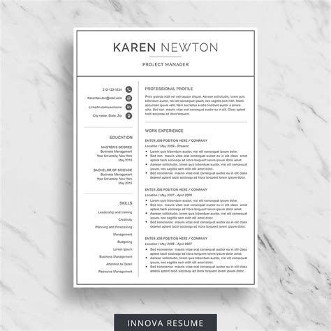 Resume Design by 10 Best Etsy Resume Templates Graphicadi