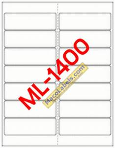 maco ml 1400 ml 1400 ml1400 5162 laser inkjet label With maco label template
