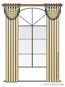 Free Curtain Samples by How To Decorate An Arch Window