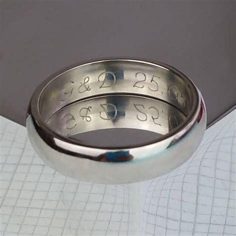 gentleman s palladium wedding ring with personalisation by david louis design