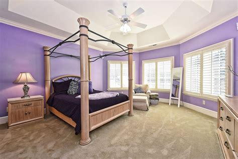 25 Gorgeous Purple Bedroom Ideas Painting Exterior Wall Paint Inside Interior Gloss Best Black For Doors Chart Urethane How To Paintable Textured Wallpaper Home