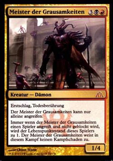 magic master of cruelties deck meister der grausamkeiten master of cruelties menschen