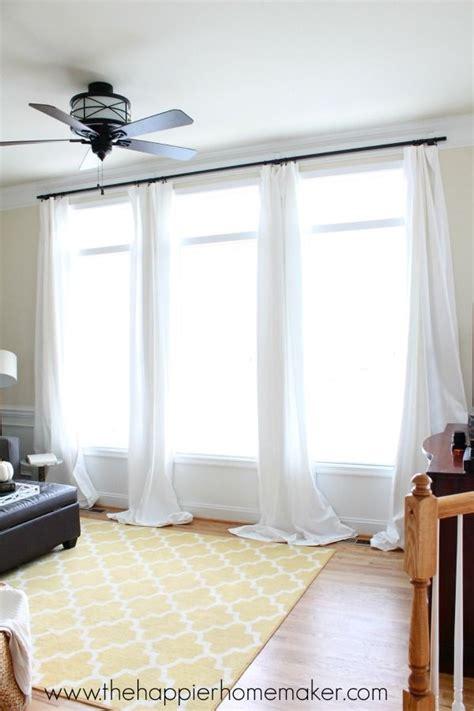 hang curtains  command hooks diy home decor