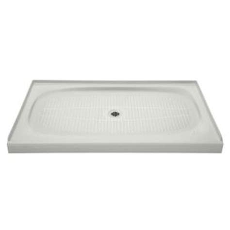 kohler cast iron shower base kohler salient 60 in x 36 in cast iron single threshold 8813