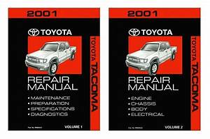 2001 Toyota Tacoma Shop Service Repair Manual Book Engine Drivetrain Oem