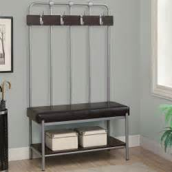 Wrought Iron Wood Bench by Furniture Natural Color Lacquered Oak Wood Entryway Bench