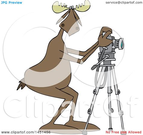 13237 photographer taking a picture clipart clipart graphic of a moose photographer taking