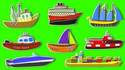 Transportation Types Clipart Sea Vehicles Water Children