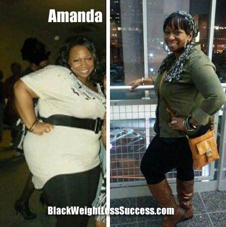 amanda lost  pounds black weight loss success