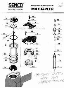 Senco M4 Parts List And Diagram   Ereplacementparts Com