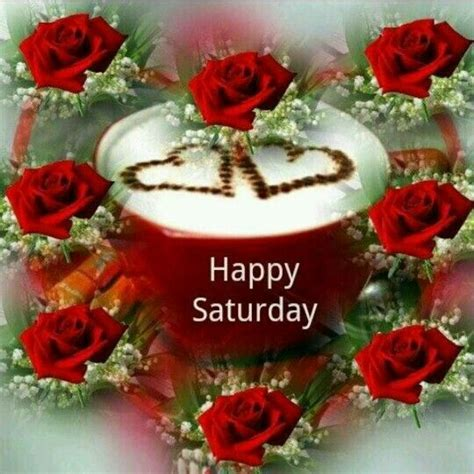 Happy Saturday Roses And Coffee <a href=