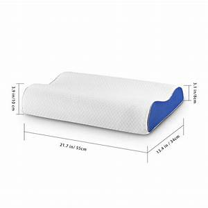 langria memory foam bed pillow neck support contour With are memory foam pillows safe