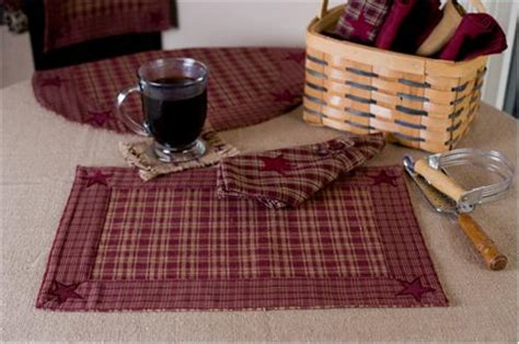 country kitchen placemats country kitchen decor burgundy applique country 2862