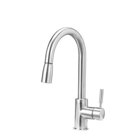 single handle kitchen faucet with sprayer blanco sonoma single handle pull down sprayer kitchen faucet in stainless 441647 the home depot