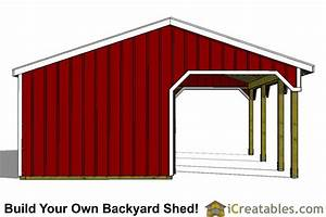 2 stall horse barn plans with 10x12 stalls and tack room With build your own horse barn