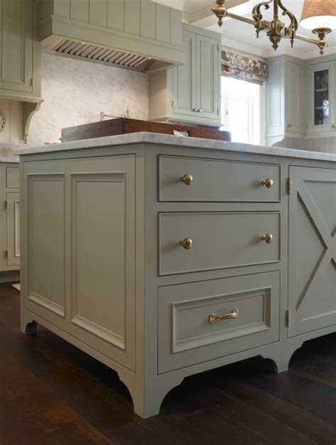 green gray kitchen island traditional kitchen