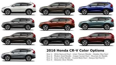 honda cr v colors 2015 2016 honda cr v color options