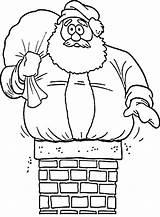 Coloring Chimney Santa Stuck Father Drawing Printable Chimneys Sheets Getcolorings Getdrawings sketch template