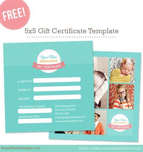 free gift card template for photographers photoshop www hazyskiesdesigns