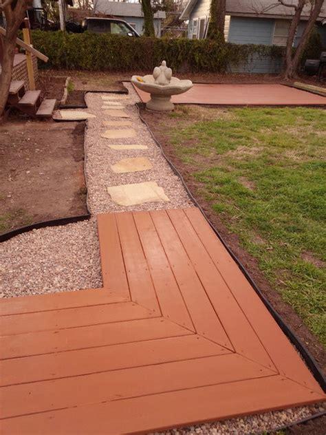 ground level deck flagstone