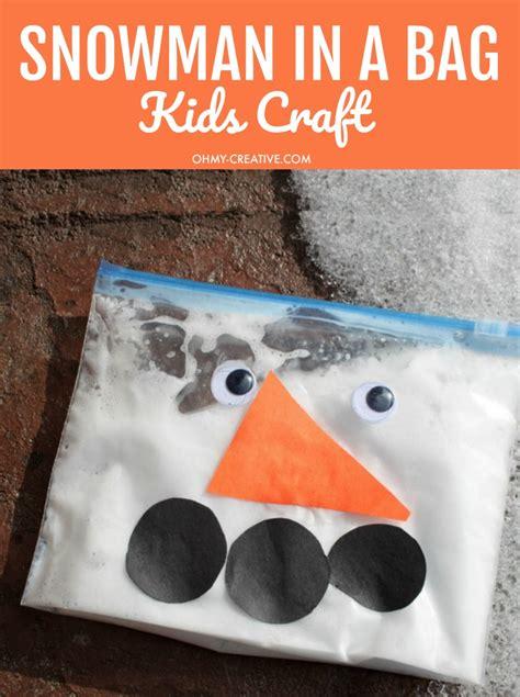 snowman   bag kids craft   creative
