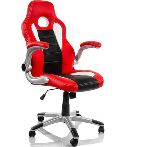 chaise de bureau sport chaise de bureau blanche et racing