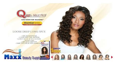 Milkyway Que Human Hair Weave Fourbulous Long Style