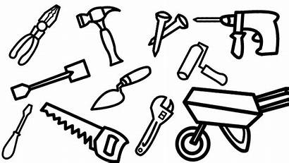 Tools Construction Drawing Coloring Pages Drawings Powerpoint