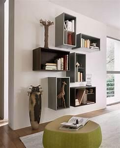 Wandgestaltung Im Wohnzimmer : wohnzimmer ideen wandgestaltung regal ~ Sanjose-hotels-ca.com Haus und Dekorationen
