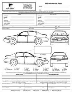 vehicle damage inspection form template vehicle