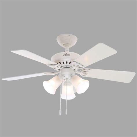 42 white ceiling fan with light hunter beacon hill 42 in indoor white ceiling fan with