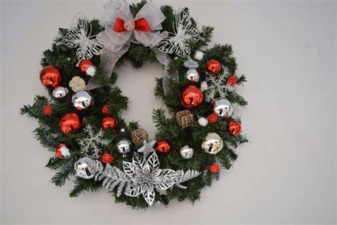 corona navidena esferas  liston navidad cm decoracion