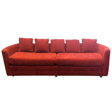 chenille sofas for sale custom mid century sofa in rust colored chenille for sale