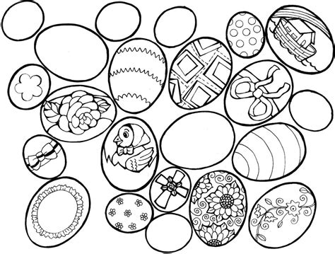 Happy Easter Eggs Printable Coloring Pages For Adults