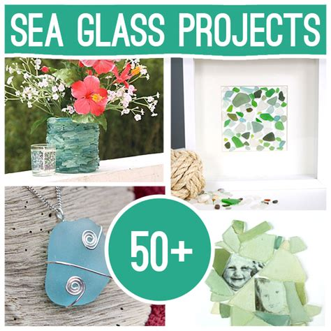 diy sea glass crafts  projects