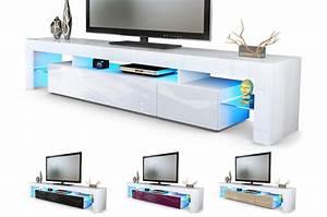Meuble Tv Hifi : meuble tv hi fi design blanc 189 cm irio cbc meubles ~ Teatrodelosmanantiales.com Idées de Décoration