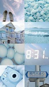 light blue collage aesthetic colors baby blue aesthetic