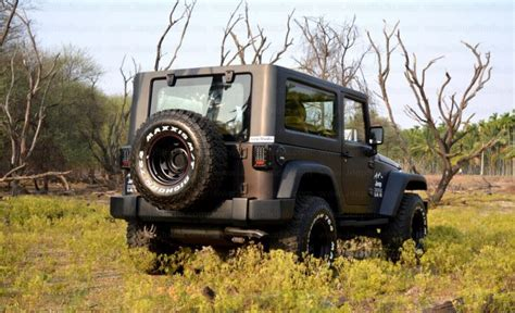 mahindra thar modified to wrangler mahindra thar customised stunningly into a jeep wrangler