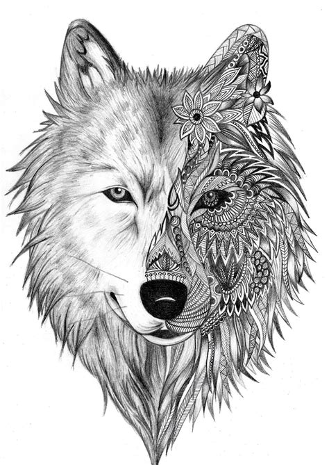 Pin by Patti Lissberger on Wolfe Zentangle in 2019 | Wolf tattoos, Tattoos, Stomach tattoos