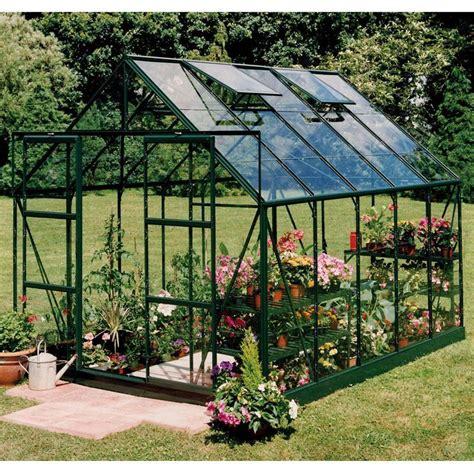 serre de jardin magnum 8 3m 178 en aluminium et verre tremp 233 3mm coloris vert halls