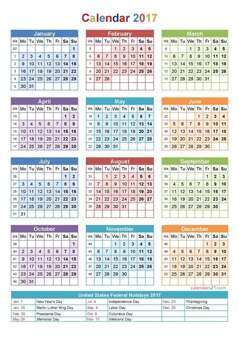 calendar week count template calendar design