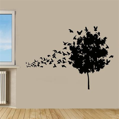 surrealist bird decals wall sticker design