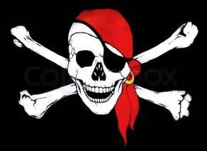 Pirate Skull and Crossbones Symbol