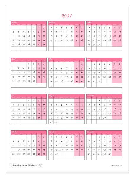 jaarlijkse kalenders  mz michel zbinden nl